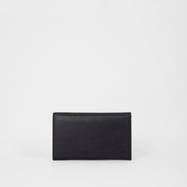 Leather Wallet S Black - COLECCION ZERO
