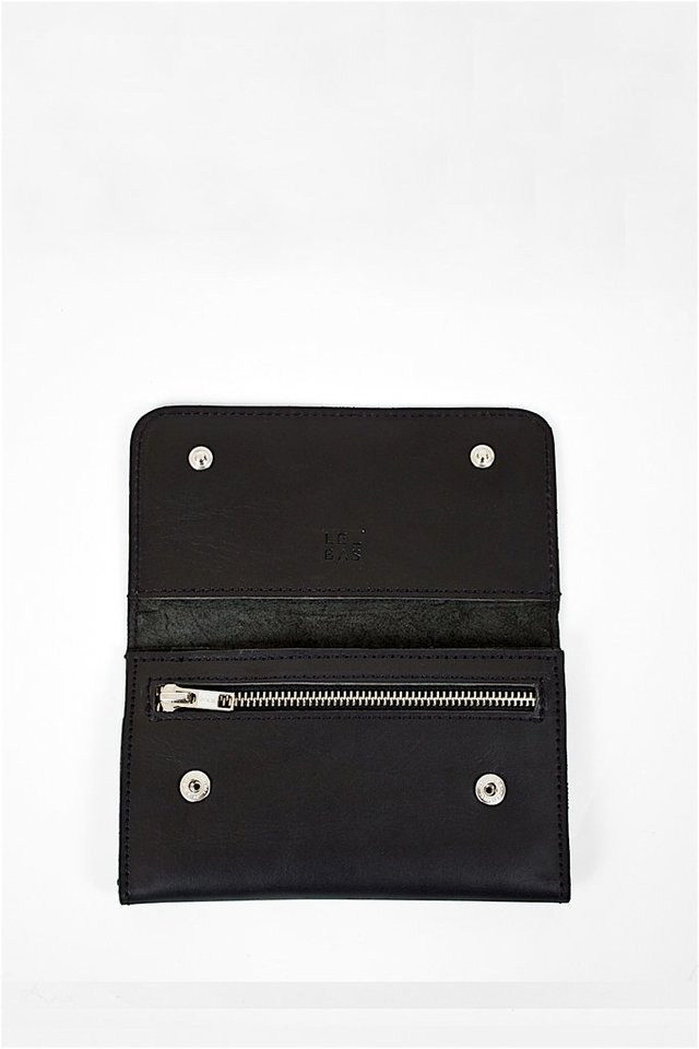Billetera Cuero Negra Wallet S