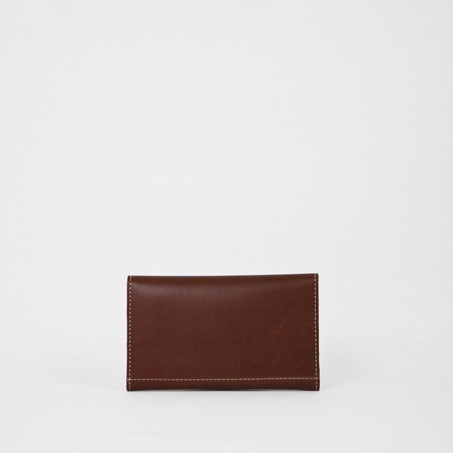 Leather Wallet S Chestnut - COLECCION ZERO