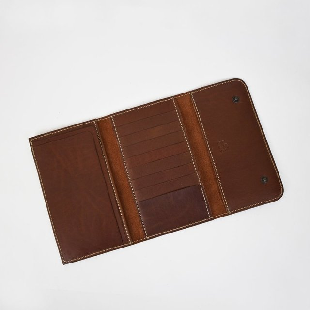 Leather Wallet S Chestnut on internet
