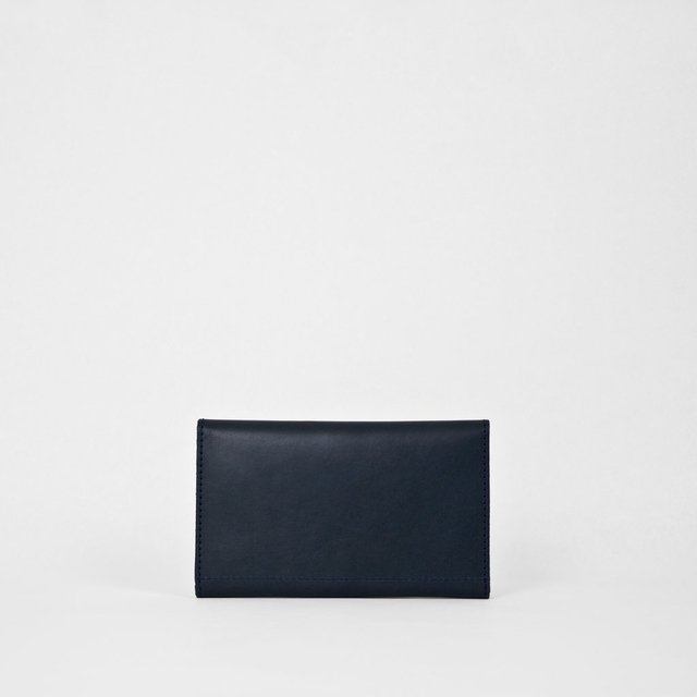 Leather Wallet S Navy - buy online