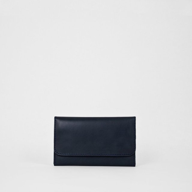 Leather Wallet S Navy - COLECCION ZERO