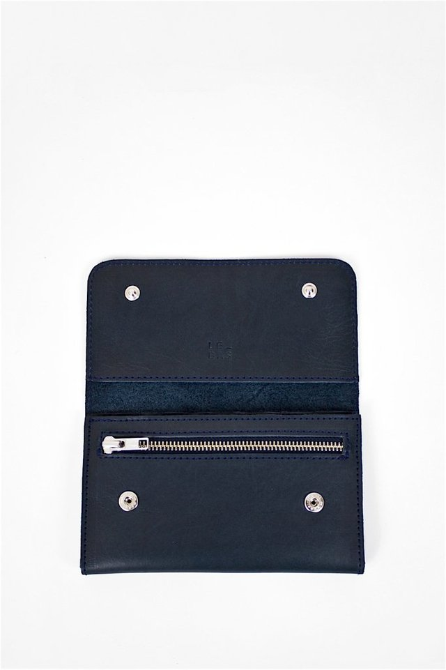 Leather Wallet S Navy