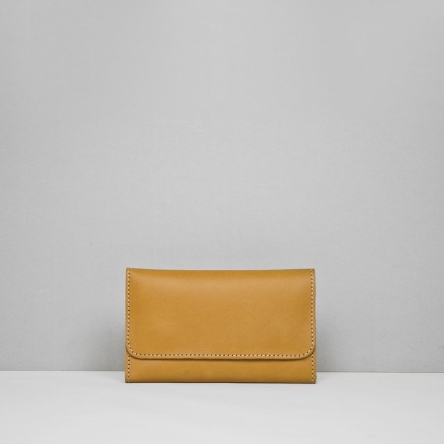 Leather Wallet S Tan - COLECCION ZERO