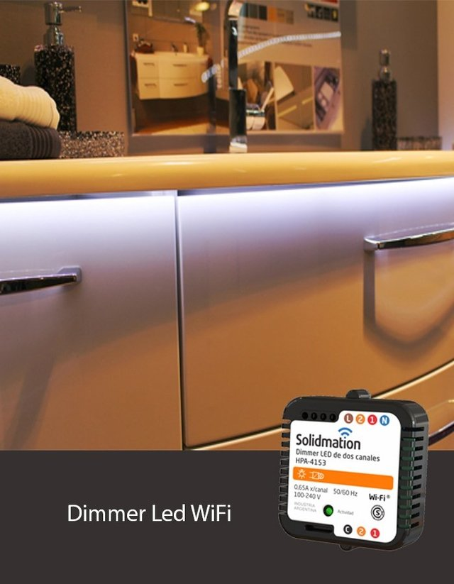 Dimmer Led WiFi de 2 canales