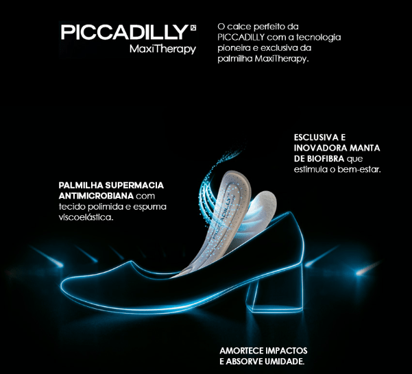Piccadilly Sapatilha MaxiTherapy 147112 - loja online
