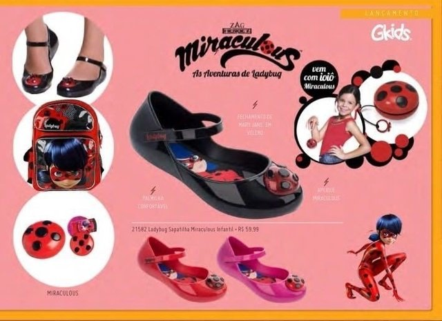 Grendene Sapatilha Miraculous a Lady Bug Ref 21582
