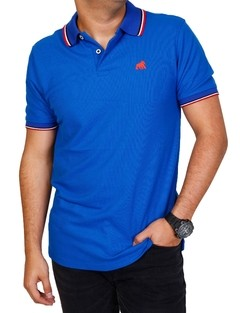 camiseta tipo polo 1627 azul super
