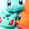 Set Almohadones Pokemon Starters Kanto 25cm