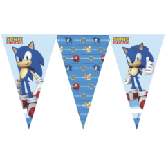 Banderin Sonic The Hedgehog Oficial x 1