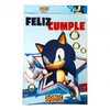 Cartel Feliz Cumple Sonic The Hedgehog Oficial x 1