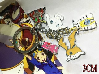 Llavero 5 dijes Patamon Gabumon Tentomon Biyomon Salamon en blister digimon digital monsters argentina