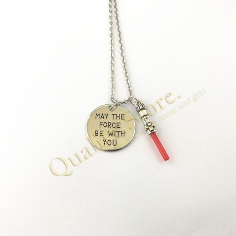 Collar Sable Sith Jedi May The Force Be With You Star Wars Argentina