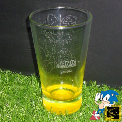 Vaso Grabado Base Color Sonic The Hedgehog Tails Moderno Sega Argentina