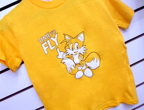 Remera para Chicos Sonic The Hedgehog Oficial Tails Time to Fly Varios Talles - Consultá por descuentos en efectivo!! - Quality.Store. Exclusive Items and Gifts