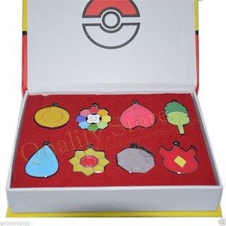 Set Medallas Liga Kanto Anime Pokemon Argentina