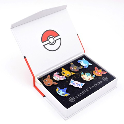 Set Pins Evolucion Eevee Eevolution Espeon Umbreon Jolteon Vaporeon Flareon Sylveon Glaceon Leafeon