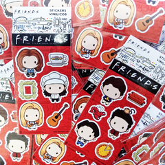 Stickers Vinílicos Friends Chibis Chandler, Ross & Joey Oficial - comprar online