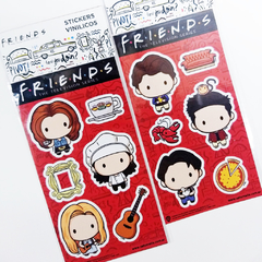 Stickers Vinílicos Friends Chibis Chandler, Ross & Joey Oficial en internet