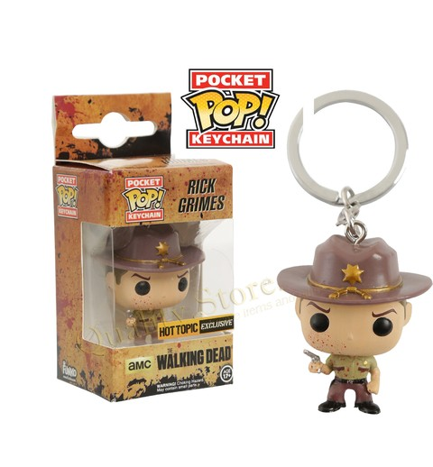 Llavero Funko Pop The Walking Dead Bloody Rick Grimes TWD Argentina