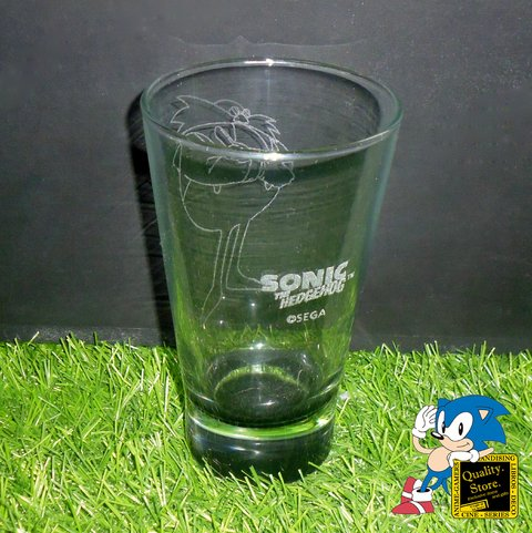 Vaso Grabado Base Color Sonic The Hedgehog Eggman Clasico Sega Argentina
