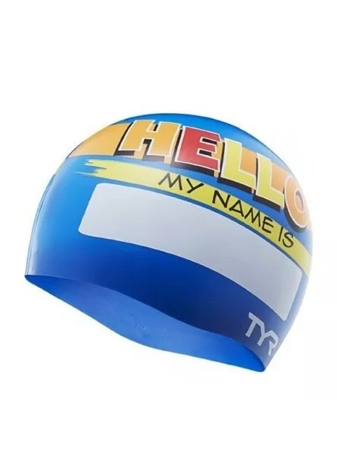 GORRO DE NATACION TYR HELLO MY NAME IS