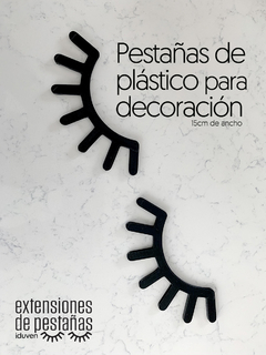 Pestañas Decoracion de 15cm 2pzs