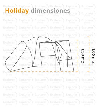 Carpa Spinit Holliday 4+C para 4 personas en internet