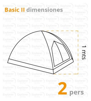 Carpa Spinit Basic para 2 o 4 personas en internet