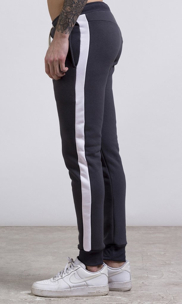 Stripes Jogger - Grey & White on internet