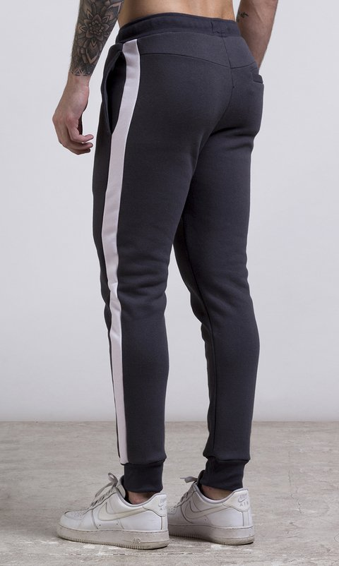 Stripes Jogger - Grey & White - buy online