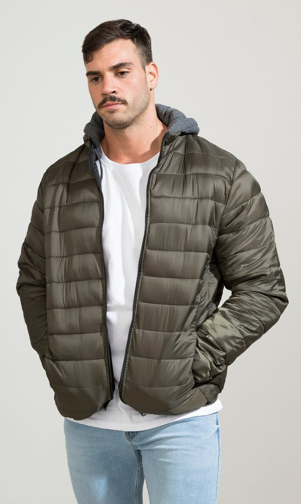 Image of Puffy hoodie Jacket - Army