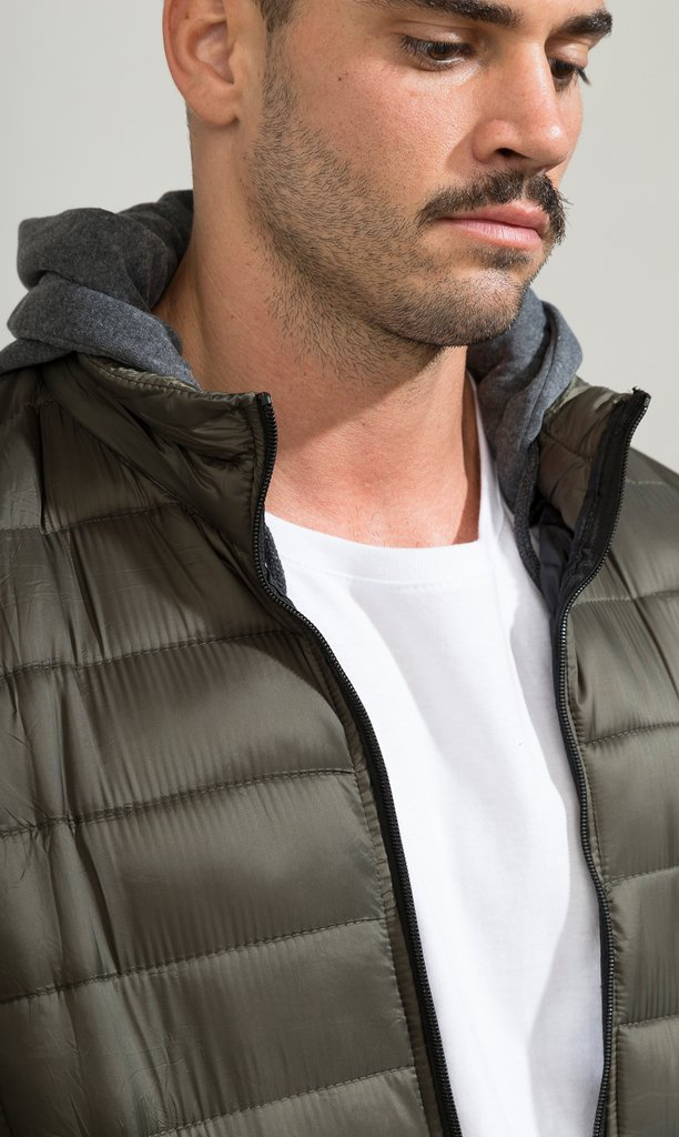 Puffy hoodie Jacket - Army - buy online