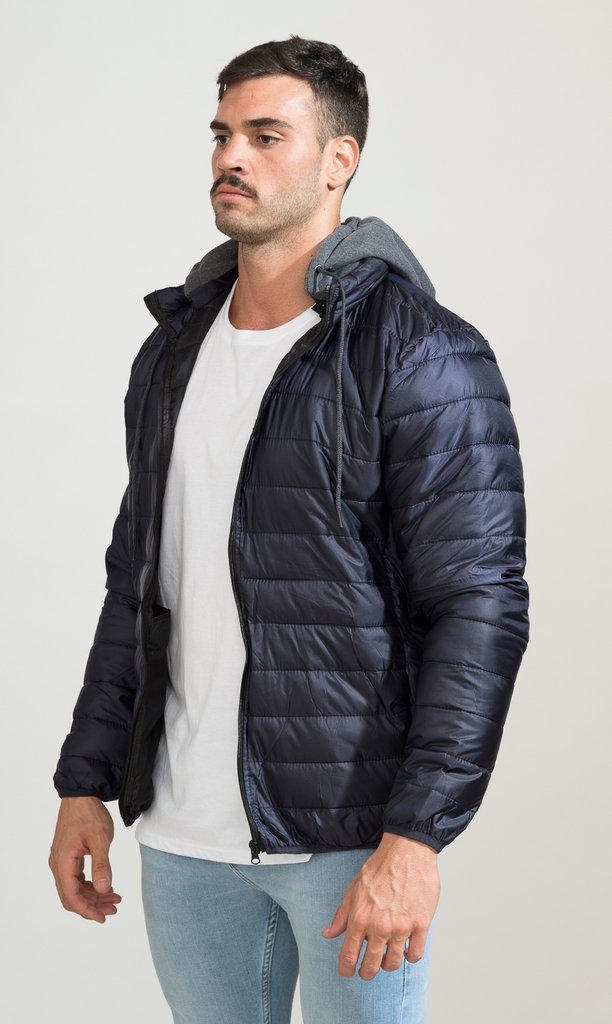 Puffy hoodie Jacket - Navy - Mohammed