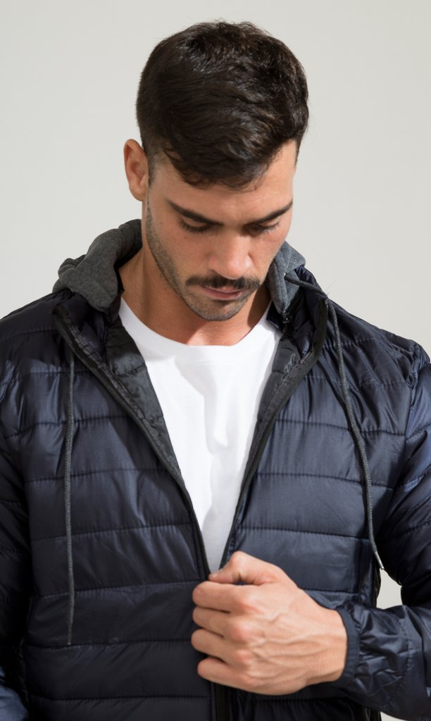 Puffy hoodie Jacket - Navy - buy online