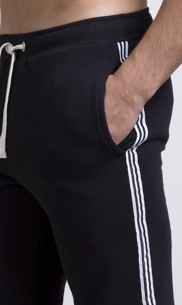 Stripes Jogger - Black & White - comprar online