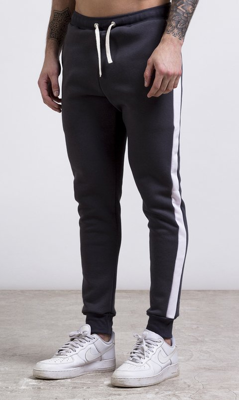 Stripes Jogger - Grey & White