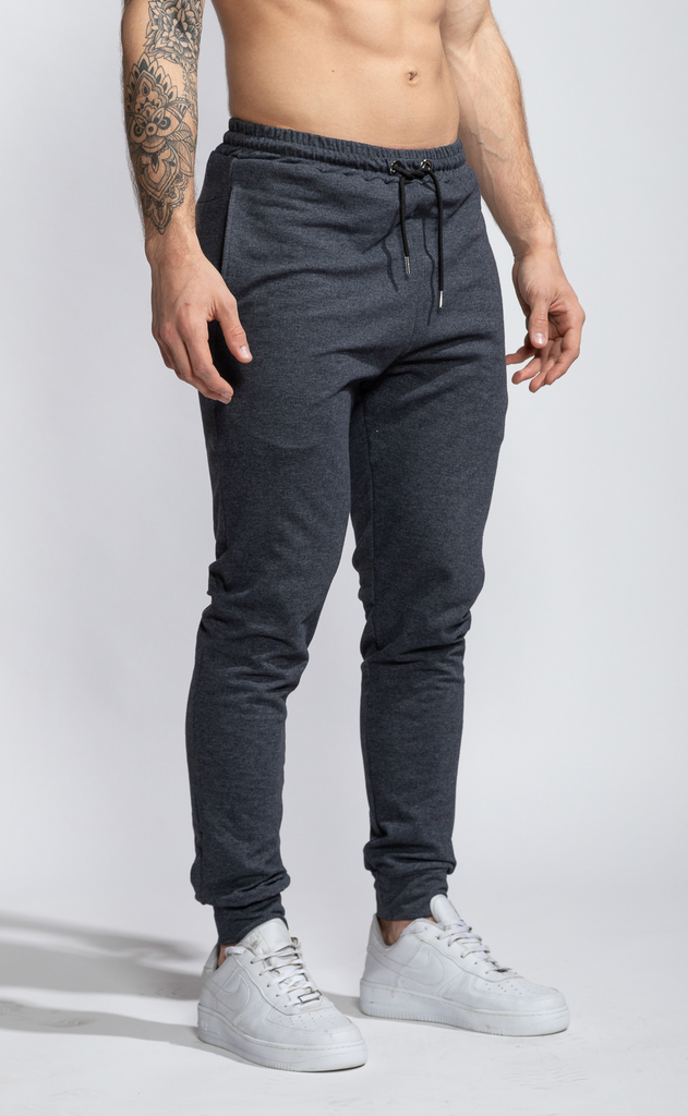 Skinny cotton jogger- Dark grey
