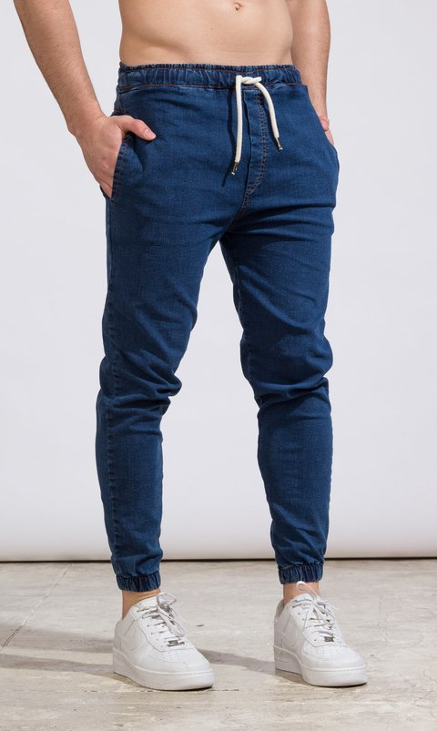 Denim Jogger - Blue