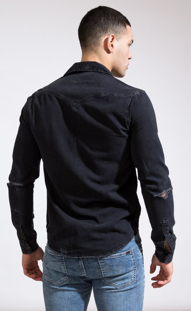 Denim shirt - Grey - comprar online