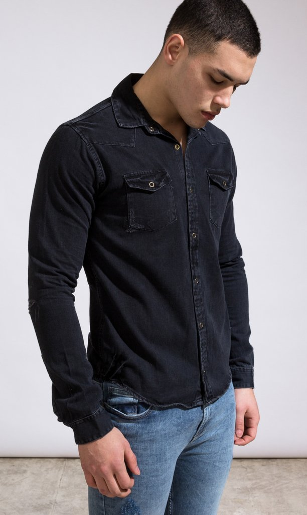 Denim shirt - Grey - Mohammed