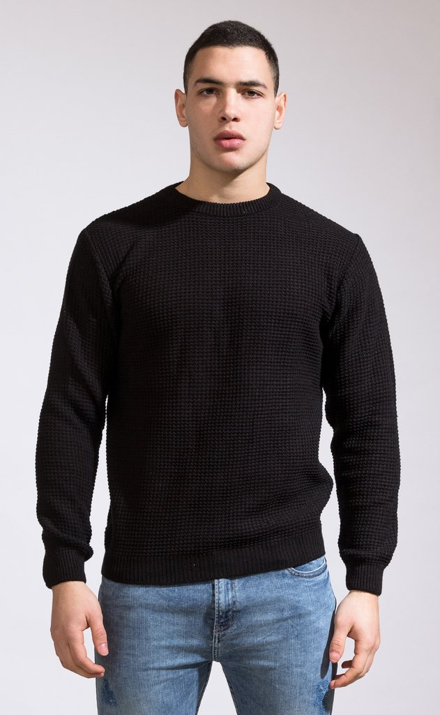 Heavy Knit sweatshirt - Black - Mohammed