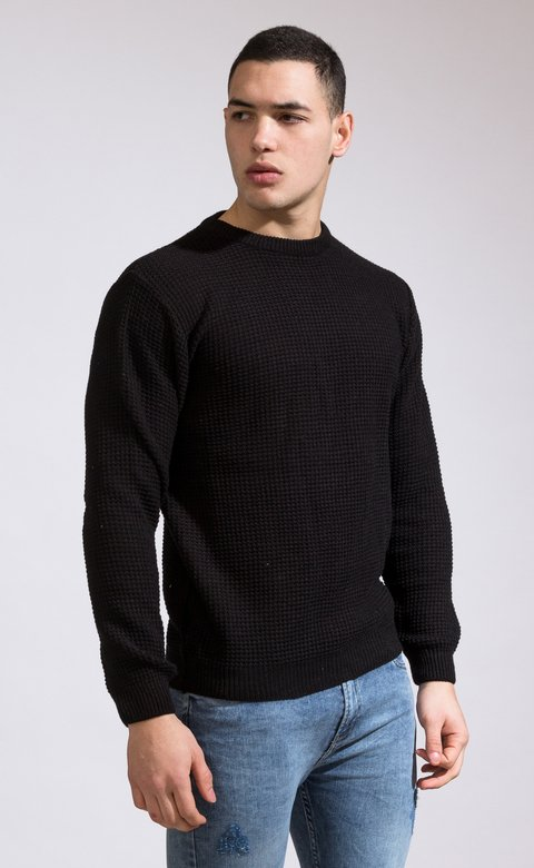Heavy Knit sweatshirt - Black - comprar online