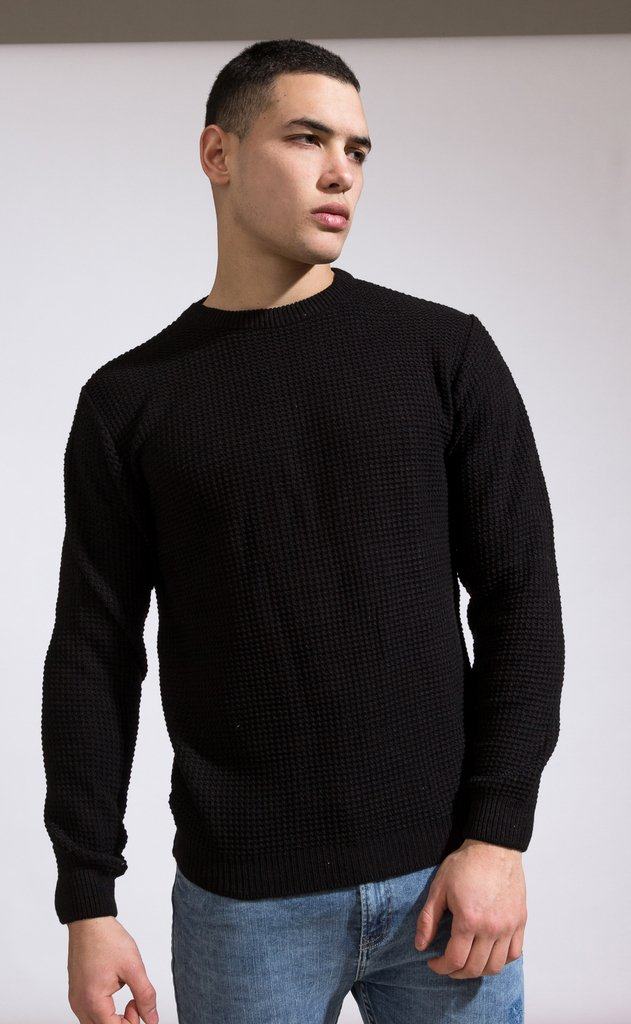 Heavy Knit sweatshirt - Black en internet