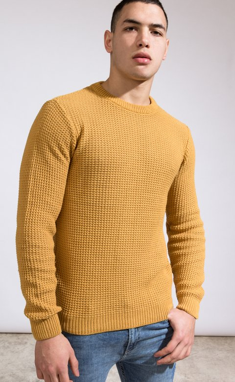 Heavy Knit sweatshirt - Camel - buy online