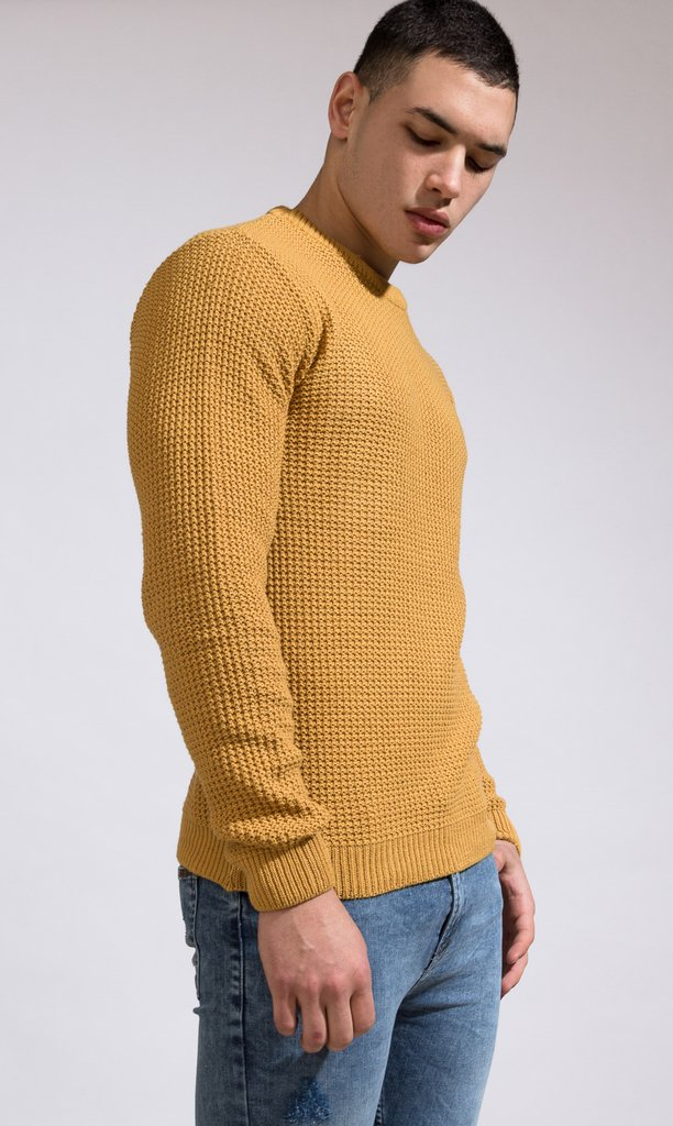 Heavy Knit sweatshirt - Camel on internet