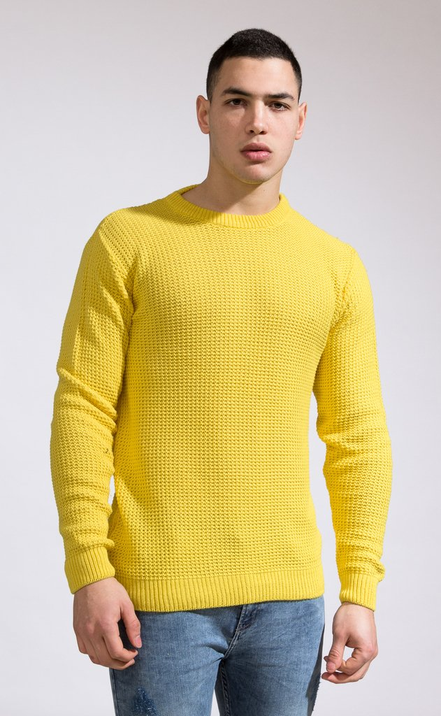 Heavy Knit sweatshirt - Yellow en internet