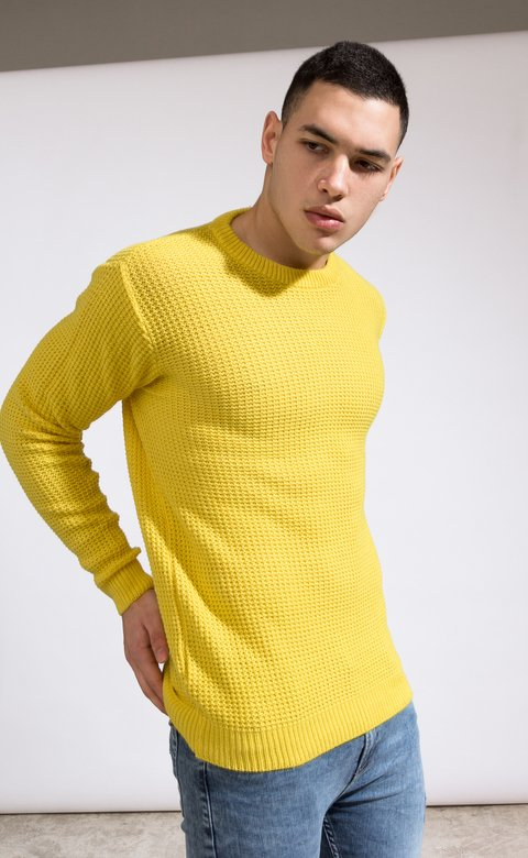 Heavy Knit sweatshirt - Yellow - comprar online