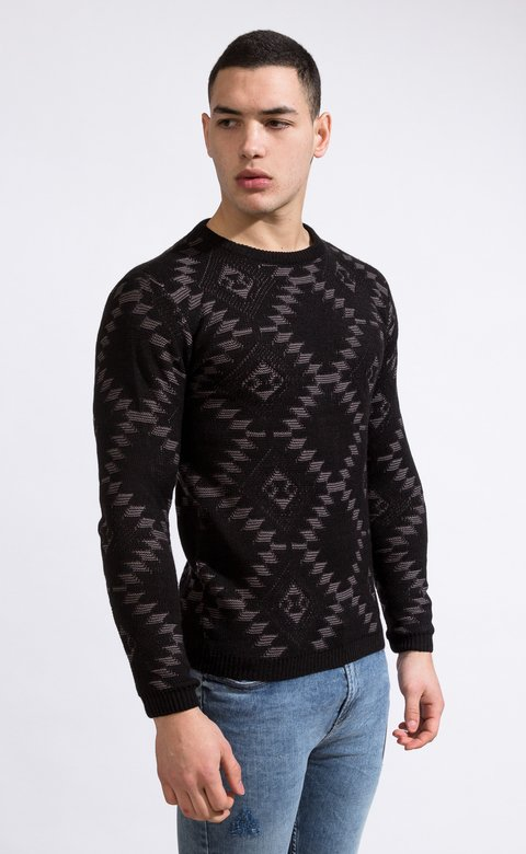 Native american knit sweater - comprar online