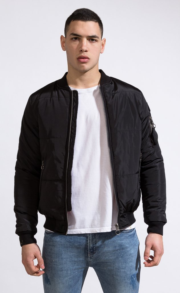 Bomber jacket - Black on internet
